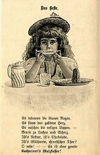 KATHREINER`S MALZKAFFEE Kindermotiv Historische Reklame von 1895