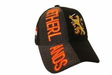 NETHERLANDS HOLLAND BLACK COUNTRY FLAG WITH LION EMBOSSED HAT CAP .. NEW