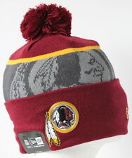 2015-16 NFL Washington Redskins Adult New Era GOLD COLLECTION Beanie with Pom