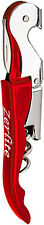 Zerlite Double Hinged Waiters Corkscrew With Foil Cutter - Red Corkscrew