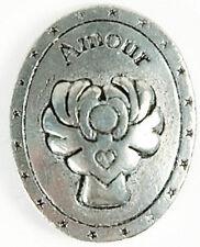 Médaille Porte-Bonheur En Étain Larme D'ange Amour À Porter Sur Soi.