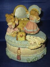Bears Playing Dress Up Music Box plays Teddy Bear, Bear Spins when playing