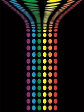 Impresión De Arte Pintura Dibujo Abstracto Música Rainbow Diseño Color lfmp0214