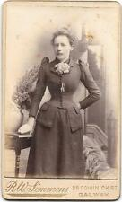 LADY FASION ORIGINAL VINTAGE OLD CDV PHOTO Galway Ireland RK