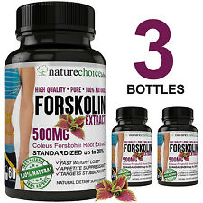 FORSKOLIN PREMIUM POTENCY-  Pure 100% Natural - 500MG - 20% STANDARDIZED