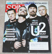 THE EDGE U2 GUITARIST BAND SIGNED AUTHENTIC AUTOGRAPH 'SPIN MAGAZINE' w/COA