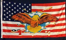 3' X 5' US FLAG WITH YELLOW EAGLE BREAKING THROUGH FLAG 3X5
