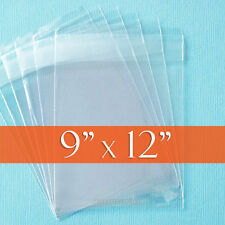 "200 Clear Cello Bags, 9x12 Inch,Resealable OPP Poly Cellophane,1.2 mil, 9"" x 12"""