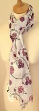 NEW 100% COTTON WOMEN'S MACKINTOSH STYLE PINK ROSES PRINT SCARF