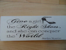 Shabby Marilyn Monroe quote plaque sign chic and unique