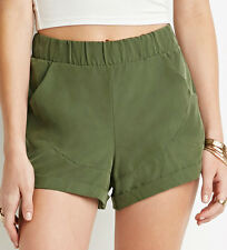50% OFF! AUTH FOREVER 21 CUFFED OLIVE SHORTS EXTRA SMALL SRP US$ 15.90+
