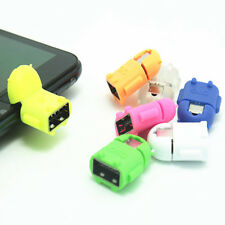 OTG TO MICRO USB CABLE ANDROID ROBOT PENDANT ADAPTER FOR SAMSUNG S4 S5 S7 HTC