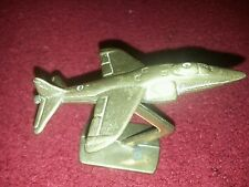 HARRIER JUMP JET SEA HARRIER BRASS MODEL HARRIER