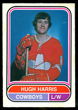 1975 76 OPC O PEE CHEE HOCKEY WHA #118 HUGH HARRIS EX-NM CALGARY COWBOYS CARD