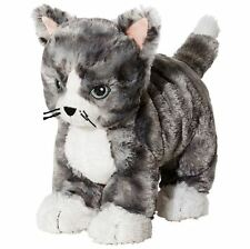 IKEA Kitty Cat  Plush Stuffed Animal Soft Toy Gray White Tabby Lilleplutt NEW