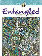 Creative Haven Entangled Coloring Book by Dr. Angela Porter (Paperback) NEW