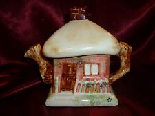 Vintage Ceramic TEAPOT CUTE THATCHED COTTAGE Novelty No1 English Collection