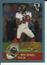 2002 Topps Chrome #158 Michael Vick Weekly Wrap Up Football card
