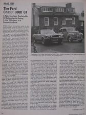 1973 Original Ford Consul 3000 GT Motor sport magazine road test