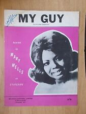 VINTAGE SHEET MUSIC - MY GUY - MARY WELLS