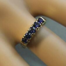 18 ct GOLD second hand 5 stone sapphire ring