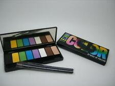MAKE UP FOR EVER 8 COLOR TECHNICOLOR EYESHADOW PALETTE EYE SHADOW & 2 BRUSHES