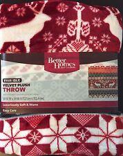 Better Homes Gardens Velvet Plush Throw Blanket 50x60 Holiday