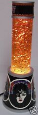 KISS Glitter Lava Lamp ROCK AND ROLL OVER - Orange - Works, No Box -Gene Simmons