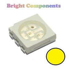 10 x Yellow PLCC-6 LED (SMD SMT 5050) - Ultra Bright - UK - 1st CLASS POST