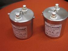 PAIR OF STEVENS & BILLINGTON 10:1 / 20:1 SILVER MOVING COIL STEP UP TRANSFORMERS