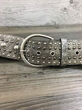 Woman's Studded Faux Leather Belt