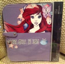 NWT DISNEY LOUNGEFLY LITTLE MERMAID MAKE UP CASE WITH MATCHING BRUSHES ARIEL