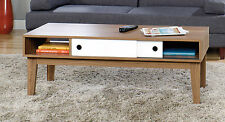 Sauder Furniture 417067 Inspired Accents Modern Walnut Sliding Door Coffee Table