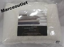 Vera Wang Bedding, Puckered Diamond Matelasse QUEEN Coverlet Ivory