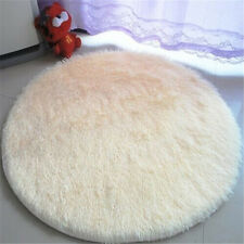 QUALITY SHAGGY RUG 120cm X 120cm ROUND CIRCULAR TEAL SUPER SOFT TOUCH SALE NEW