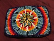 Beautiful Large Native American Beaded Belt Buckle Brand New Never Worn