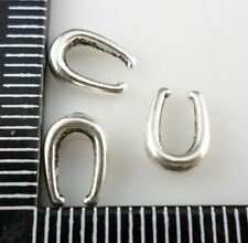 40pcs Tibetan silver Pinch Clasp Bail Connector Oval Pendant Buckle