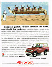 PUBLICITE ADVERTISING 035  1993  TOYOTA LAND-CRUISER  LJ70 5 places