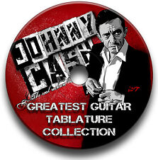 JOHNNY Cash Rock Blues Country Chitarra schede tablature SONG BOOK CD software