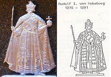 Rudolf I. Habsburg (1275 - 1291) Römisch-Deutscher König - Zinnfigur 54mm blank