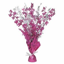 """16"""" Happy 30th Birthday Pink Sparkle Foil Weight Table Centerpiece Decoration"""