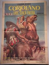 Manifesto CORIOLANO EROE SENZA PATRIA 1964 ALBERTO LUPO, GORDON SCOTT, 2F
