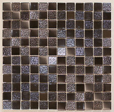 Sample Ripple Grey Metallic 2.3x2.3 Mosaic 30x30 Sheet