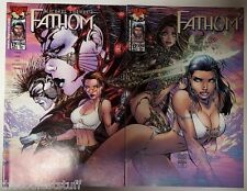 Michael Turner's Fathom #12 A & B Variant Cover Set of 2 Image Comics 2000 NM