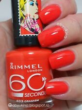 Genuine Rimmel London 60 Seconds Nail Varnish Polish  403 orgasm