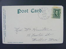 Berlin Massachusetts MA Worcester County 1907 Type 2/4 Doane Cancel Postcard