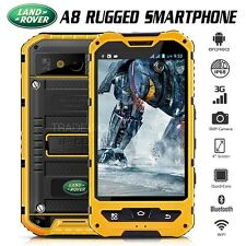 """Unlocked LAND ROVER A8 Yellow IP68 4"""" 3G Waterproof Rugged Smartphone Cell Phone"""