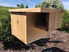 "Cedar Squirrel House Nesting Box With 3"" Entrance And Hinged Door"