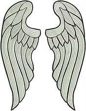 "Angel wings LARGE embroidered back patch. Huge 40cm, 16"" FULL embroidery!!"