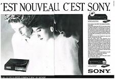 Publicité Advertising 1985 (2 pages) Hi FI Lecteur Laser CD D-50 de Sony